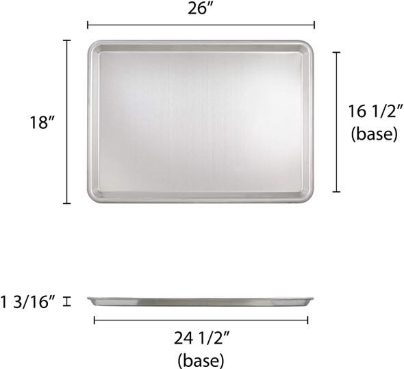 Full Size, 12 Gauge Aluminum Sheet Pan (ALSP1826S)