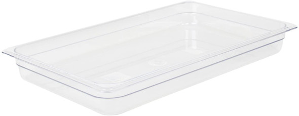 """Thunder Group PLPA8002, Full Size Clear Polycarbonate Food Pan - 2.5"""" Deep"""