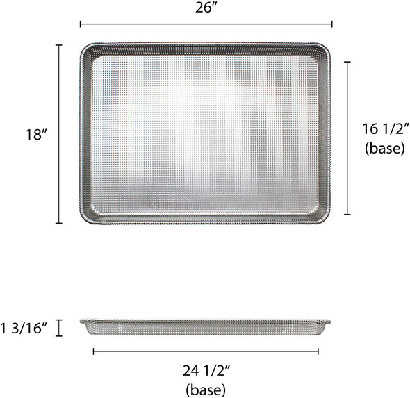 Full Size, 16 Gauge Aluminum Fully Perforated Glazed Sheet Pan (ALSP1826PG)