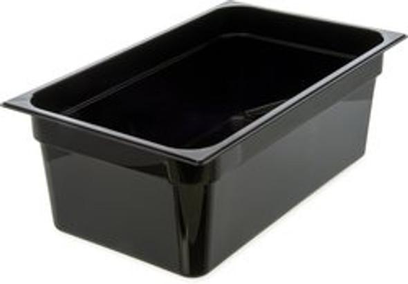 "Thunder Group PLPA8008BK, Full Size Black Polycarbonate Food Pan - 8"" Deep"