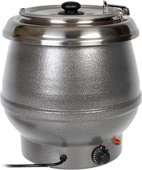 Thunder Group SEJ31000TW 10.5 Qt Silver Countertop Food/Soup Kettle Warmer (Made In Taiwan)