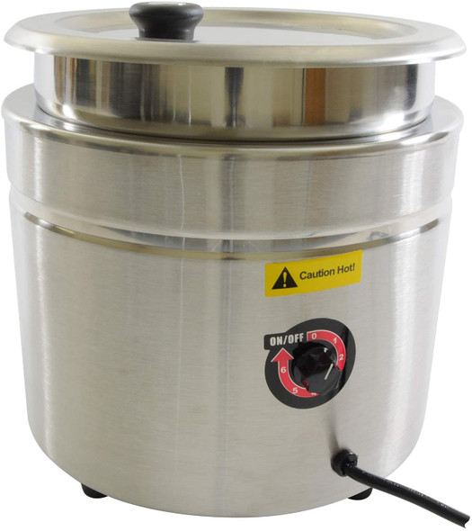 11 Qt Stainless Steel Round Food/Soup Warmer Set (THSEJ38000C)