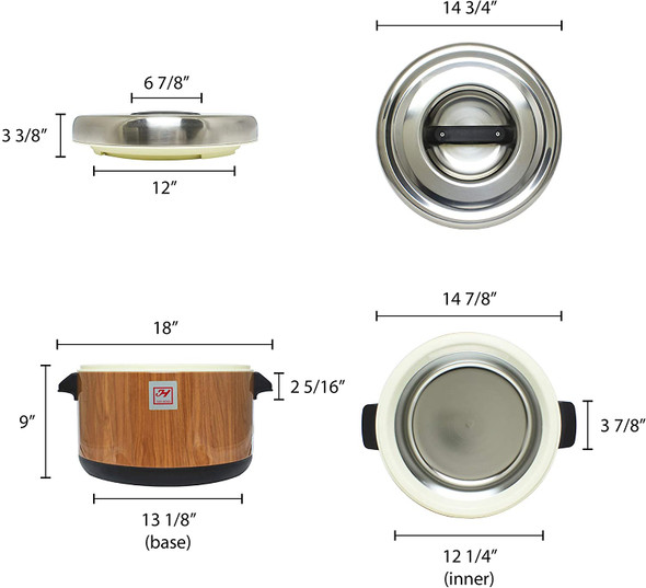 Thunder Group SEJ71000 40 Cup Wood Grain Insulated Sushi Rice Pot