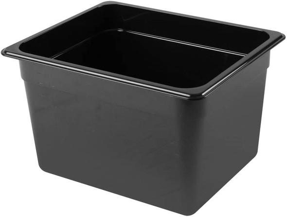 """PLPA8128BK, Half Size Black Polycarbonate Food Pan - 8"""" Deep"""