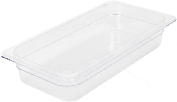 "Third Size Clear Polycarbonate Food Pan - 2.5"" Deep (PLPA8132)"