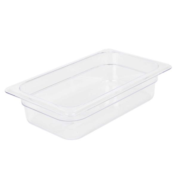 """Quarter Size Clear Polycarbonate Food Pan - 2.5"""" Deep (PLPA8142)"""