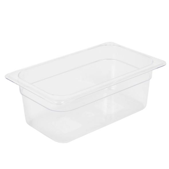 """Quarter Size Polycarbonate Clear Food Pan - 4"""" Deep (PLPA8144)"""