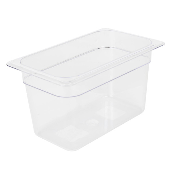 """Quarter Size Polycarbonate Clear Food Pan - 6"""" Deep (PLPA8146)"""