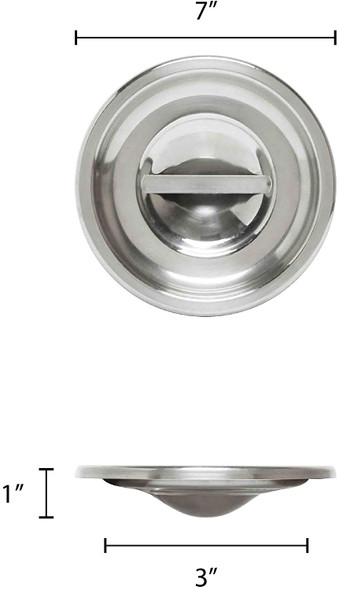 3.5 Qt Stainless Steel Bain Marie Pot Cover (SLBM009)