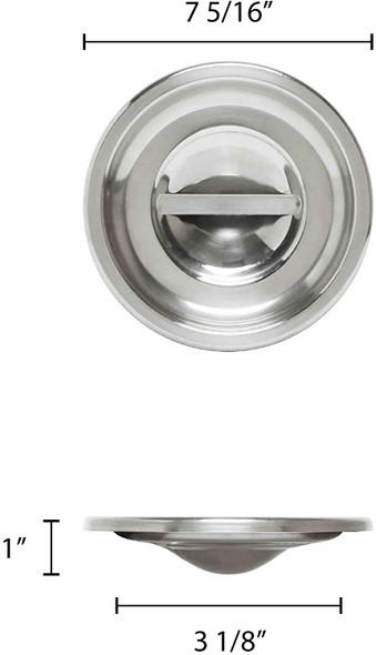 4.25 Qt Stainless Steel Bain Marie Pot Cover (SLBM010)