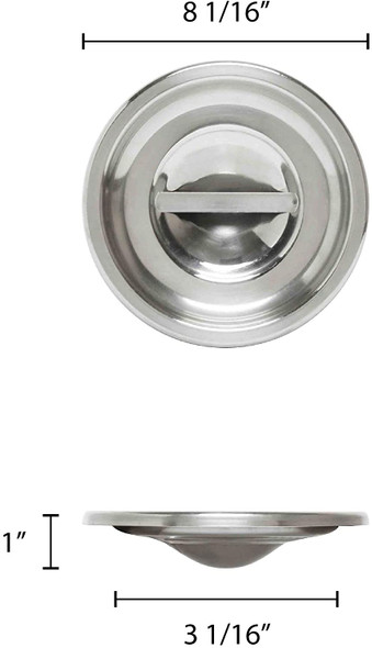6 Qt Stainless Steel Bain Marie Pot Cover (SLBM011)