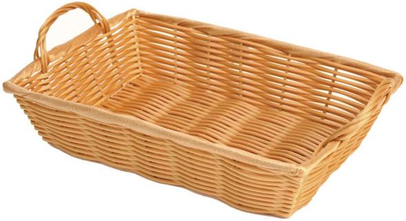 """12"""" x 8"""" x 3"""" Rectangular Woven Basket w/ Handles"""
