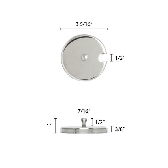 7 oz Stainless Steel Condiment Jar Lid (SLCJ007C)