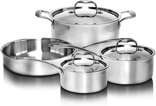 Tri-Ply Stainless Steel 7 Piece Cookware Set (SLCK007)