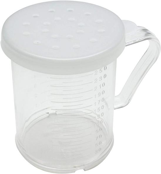 10 oz Plastic Dredge/Measuring Cup, 3 Snap-On Lids
