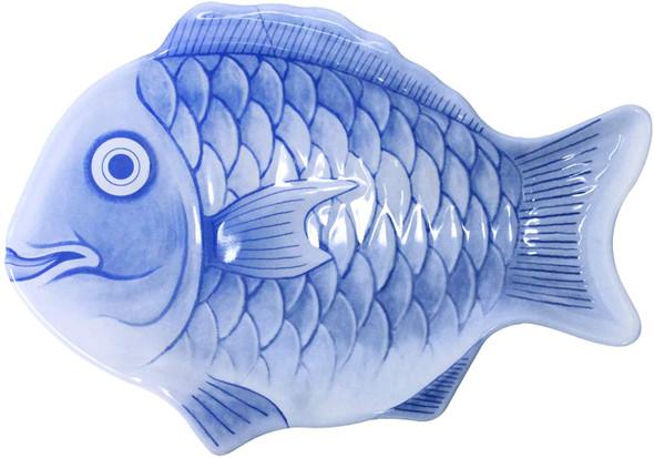 "10"" Blue Melamine Fish Shaped Platter (1000CFB)"
