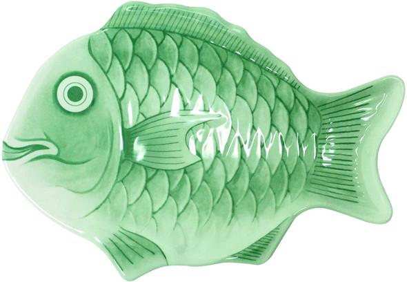 "12"" Green Melamine Fish Shaped Platter (1200CFG)"