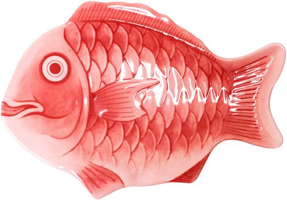 "14"" Red Melamine Fish Shaped Platter (1400CFR)"