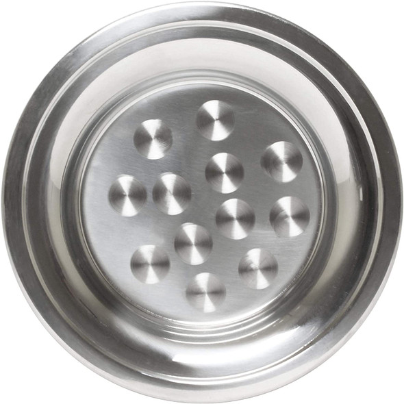 """12"""" Round Stainless Steel Swirl Pattern Serving Tray (SLCT012)"""