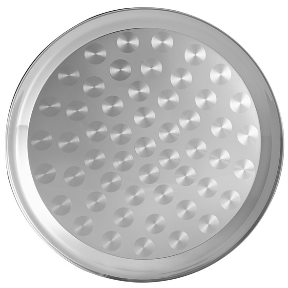 """12"""" Round Stainless Steel Narrow Rim Serving Tray (SLCT312)"""