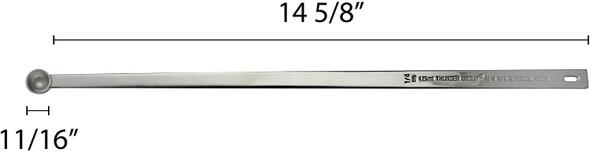 """1/4 Teaspoon, 15-1/4"""" Length, Long Handle Measuring Spoon, Stainless Steel"""