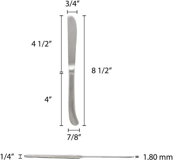 DAKOTA Stainless Steel Heavy Weight Dinner Knife (SLDK109)