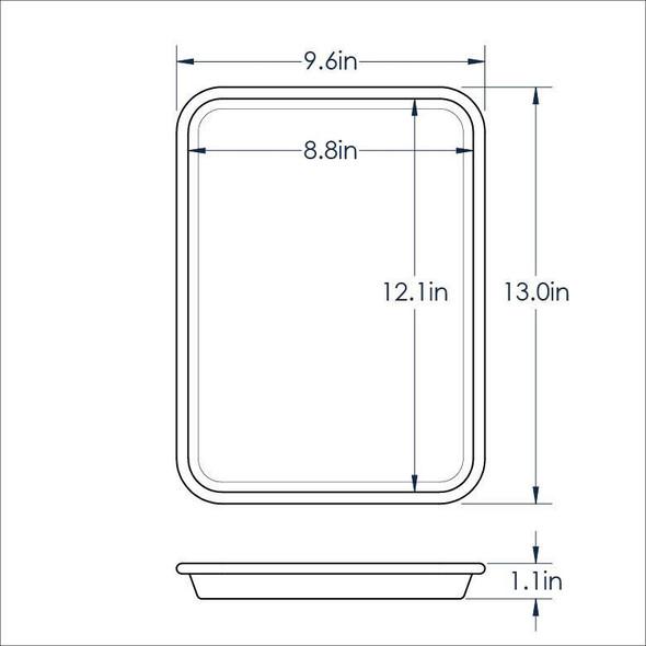 Quarter Size, 20 Gauge Aluminum Sheet Pan (ALSP1013)
