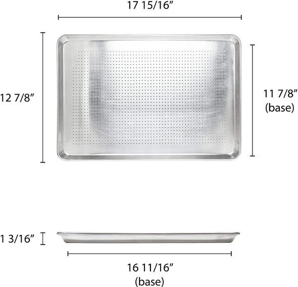 Half Size, 19 Gauge Aluminum Perforated Sheet Pan (ALSP1813PF)