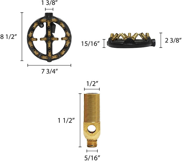 20 Tip Round Nozzle Jet Burner (IRBR001)