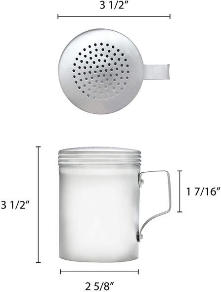 10 oz Aluminum Dredge/Shaker with Handle (ALRDH001)