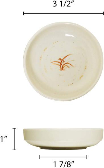 Thunder Group 1903GD Gold Orchid 3 oz Round Melamine Sauce Bowl