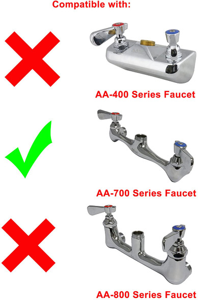 """Replacement for AA Faucet 700 series 8"""" commercial duty faucet"""