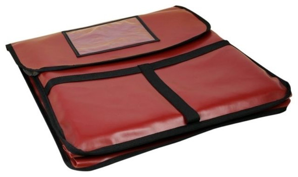"""20"""" x 20"""" x 5"""" Red Nylon Insulated Pizza Delivery Bag"""