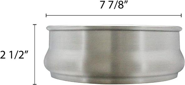 48 oz Aluminum Stackable Dough Pan