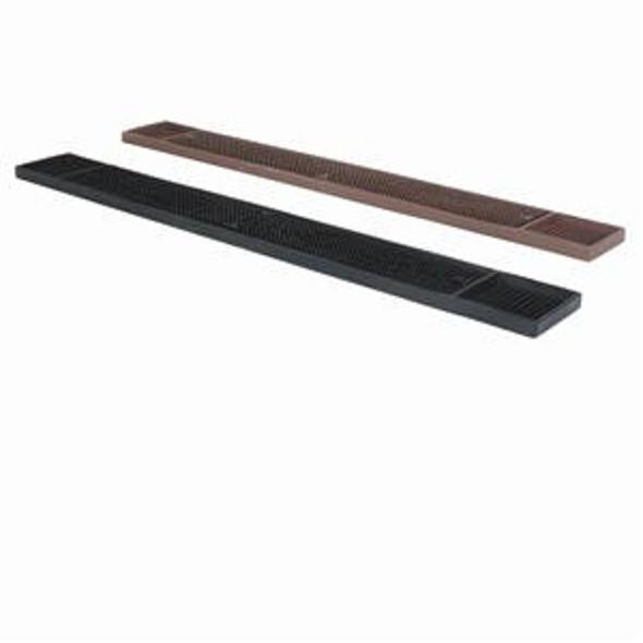 "PLBM027 Black/Brown 27"" x 3.25"" Anti-Skid Bar Mat"