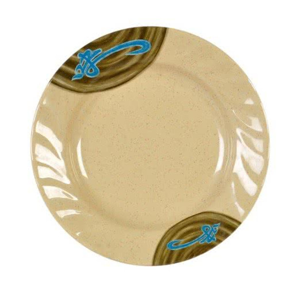 "WEI, 10.50"" Curved Rim Melamine Plate"
