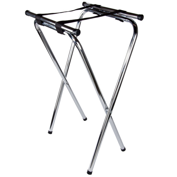 Chrome Double Bar Folding Tray Stand