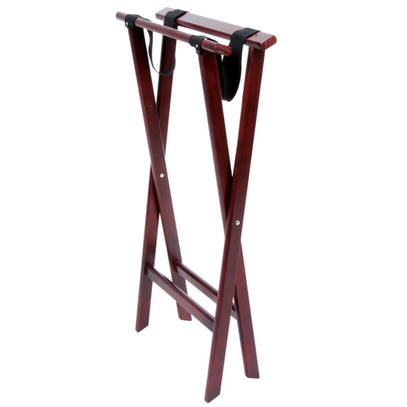 Double Bar Wood Folding Tray Stand
