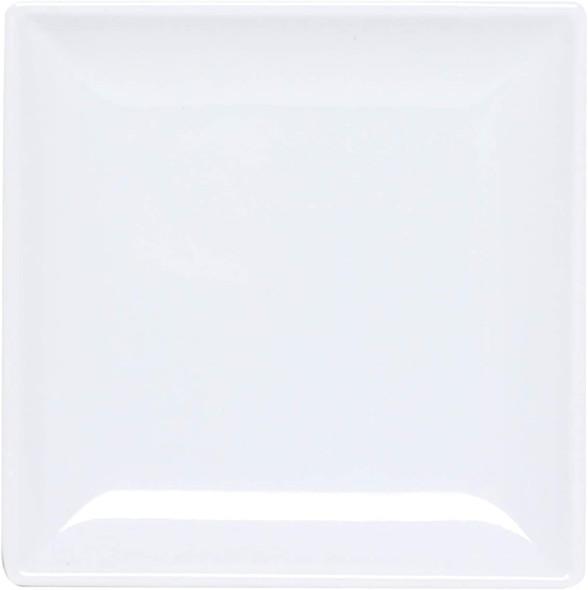 "Thunder Group 29010WT Classic White 10"" Square Melamine Plate"