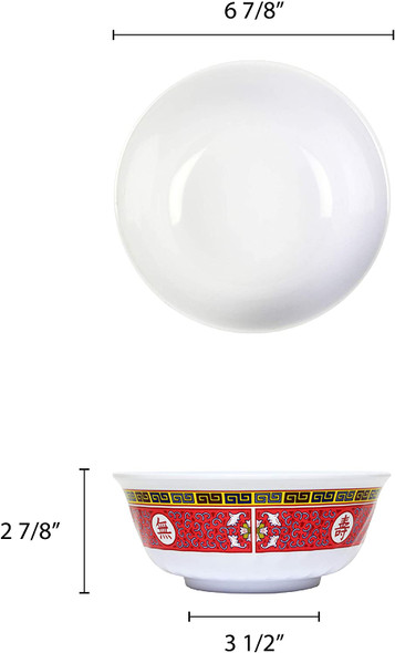 LONGEVITY 32 oz Swirl Melamine Soup Bowl (5307TR)