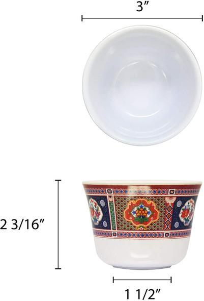 PEACOCK 5 oz Melamine Tea Cup (9152TP)