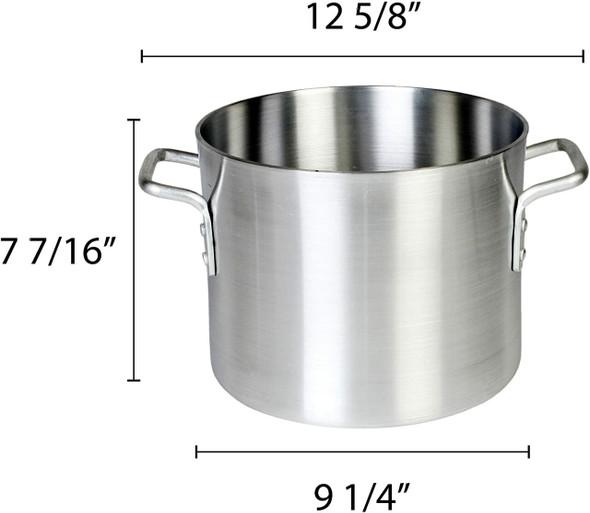 8 Qt. Standard Aluminum Stock Pots (ALSKSP001)