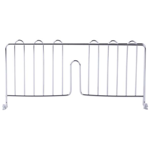Chrome Shelf Divider for Wire Shelving