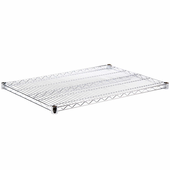 24 Inch Deep Chrome Plated Wire Shelf (CMSV24)