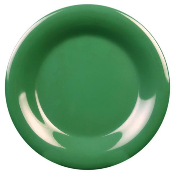 """10.5"""" Wide Rim Melamine Green Plate (CR010GR)"""