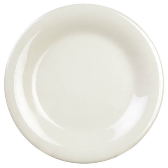 "10.5"" Wide Rim Melamine Ivory Plate (CR010V)"