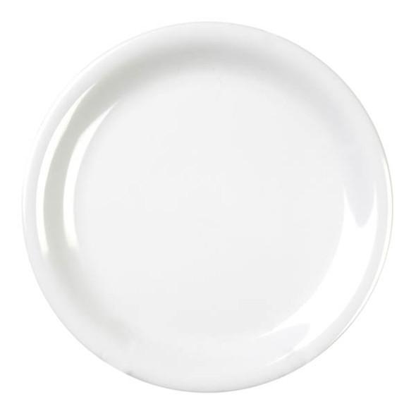 """6.5"""" Narrow Rim Melamine Color White Plate (CR106W)"""