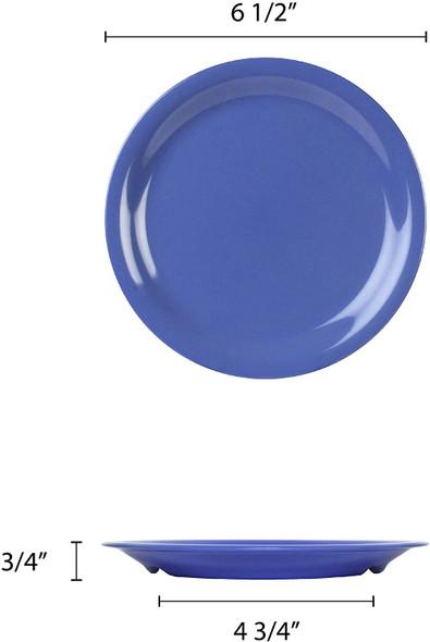 "6.5"" Narrow Rim Melamine Color Purple Plate (CR106BU)"