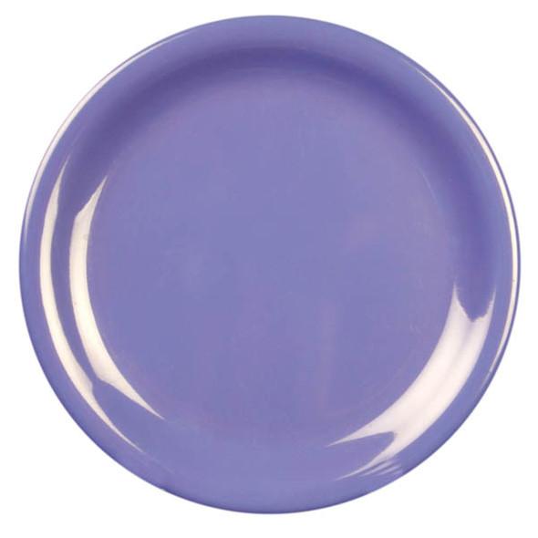 "7.25"" Narrow Rim Melamine Purple Plate (CR107BU)"