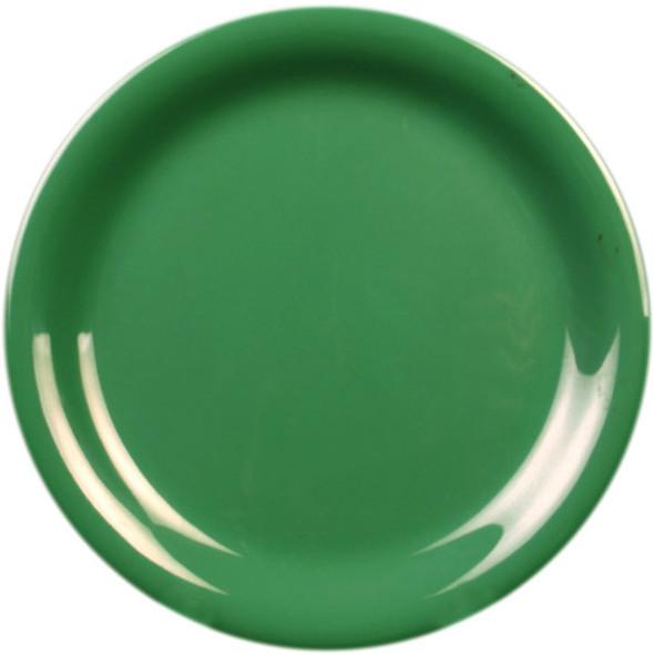 "9"" Narrow Rim Melamine Green Plate (CR109GR)"